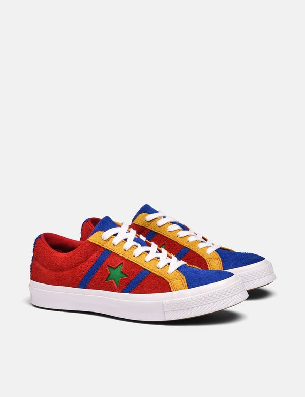 Converse One Star Academy Low Top Trainers Enamel RedBlue