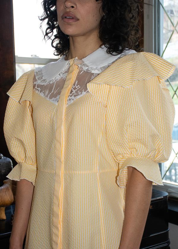Suzanne Rae Long Dress W/ Collar