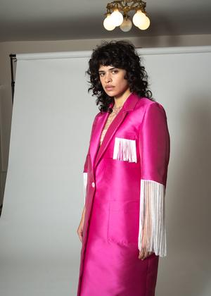 Suzanne Rae Long Coat With Fringe
