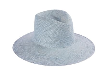 Clyde Pinch Panama Hat - Denim Blue