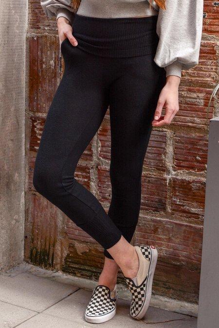 Beautiful People Brushed Jersey/Rib Track Pants - Black