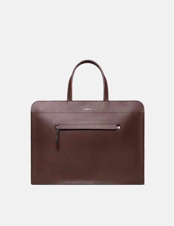 Sandqvist Stina Briefcase - Dark Brown