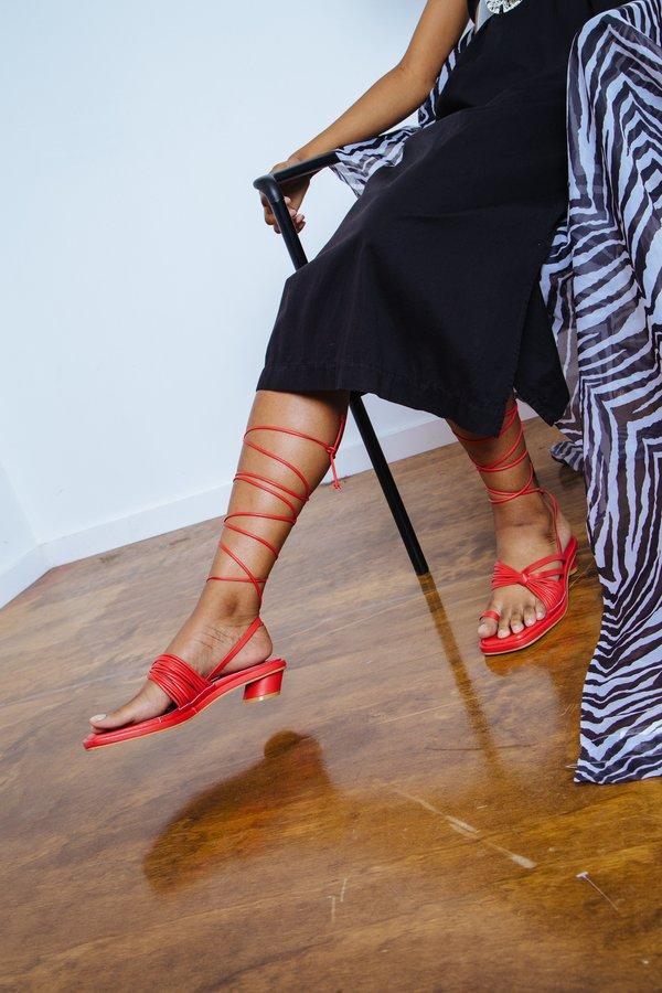 Reike Nen Unbalanced String Flip Flop - red