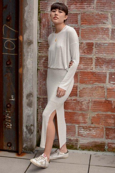 Beautiful People Modal Side Slit Skirt - Oatmeal