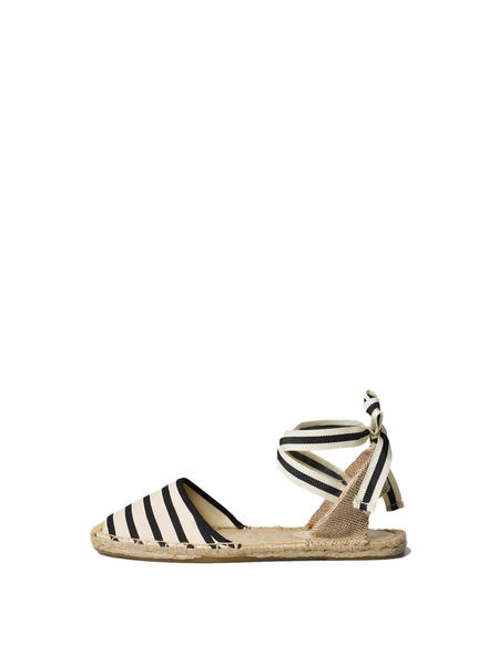 Soludos Classic Sandal Stripe - NATURAL/BLACK