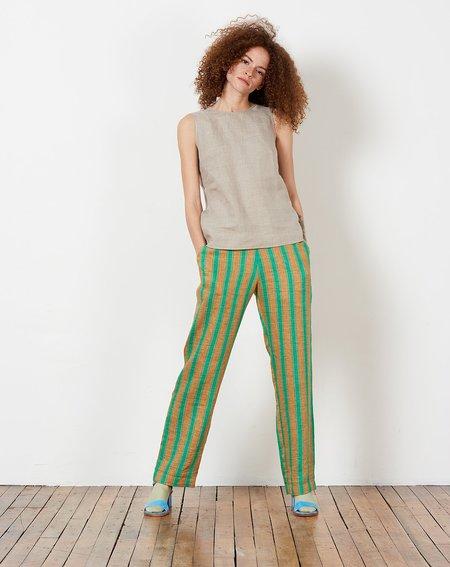 Rachel Comey Mott Pant - Green High Line Stripe