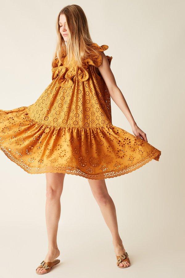 Manoush Robe Babydoll Brigitte - Miel