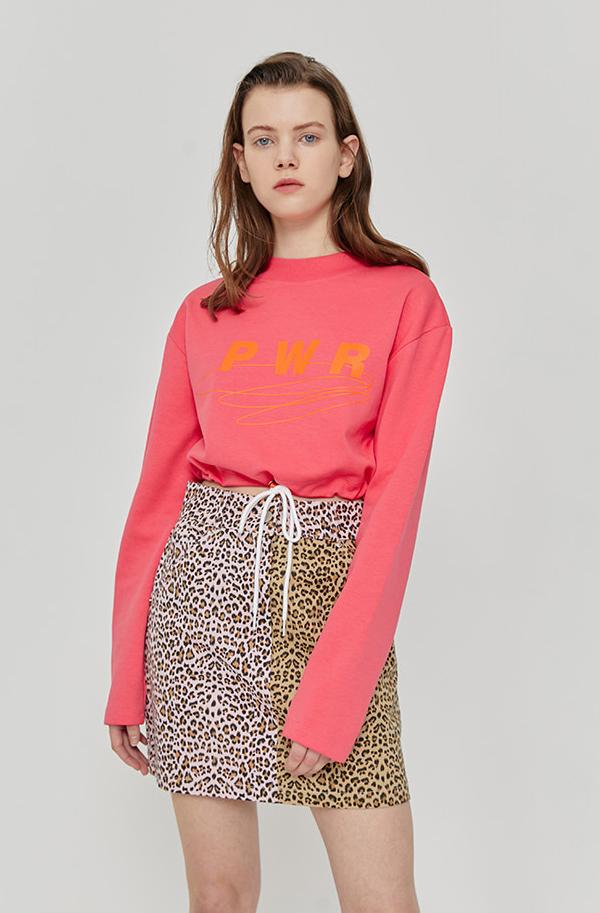 ROCKET X LUNCH R String Crop T-Shirt - Pink
