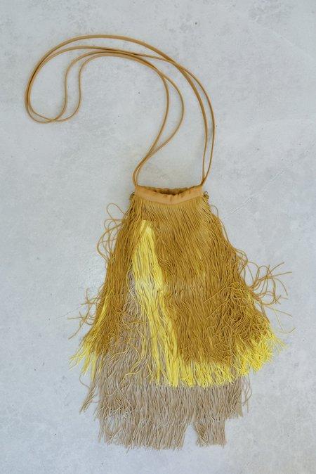 Rachel Comey Cherie Fringe Bag - Beige/Yellow