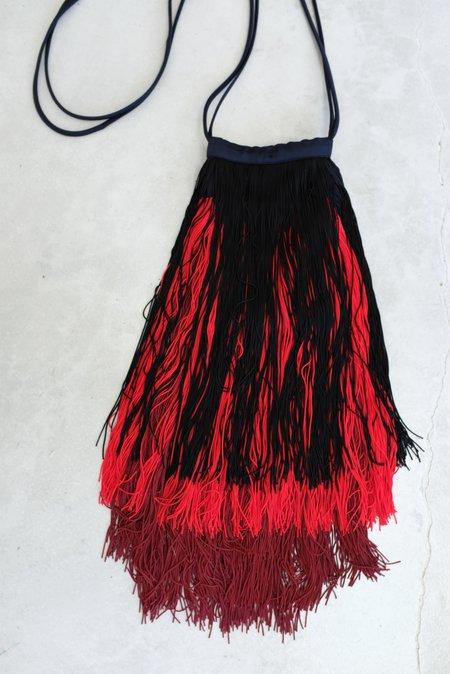 Rachel Comey Cherie Fringe Bag - Midnight/Burgundy