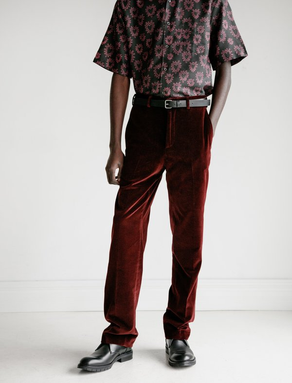 Cobra SC Classics Cotton Velvet Trouser - Bordeaux
