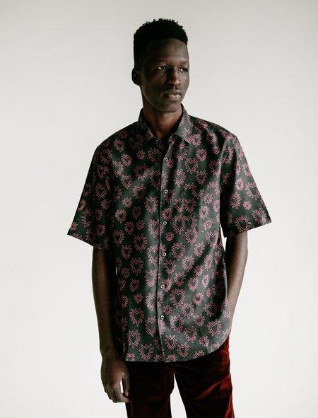 Cobra SC SS Printed Silk Model 1 Shirt - Pink Hearts