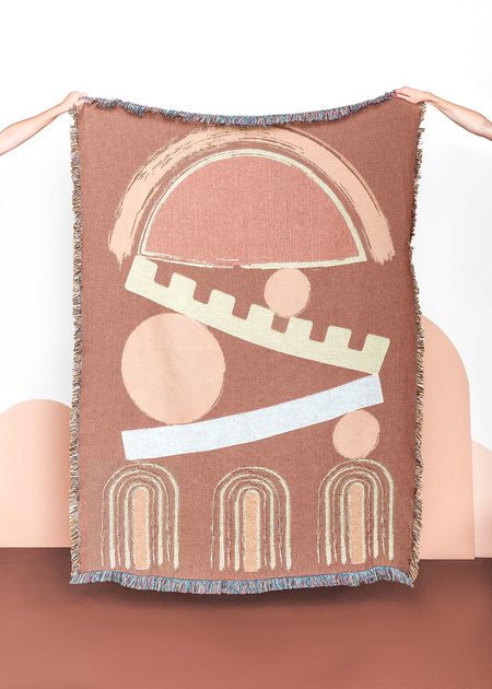 San Junipero Textile Studio Balance Throw - terracota