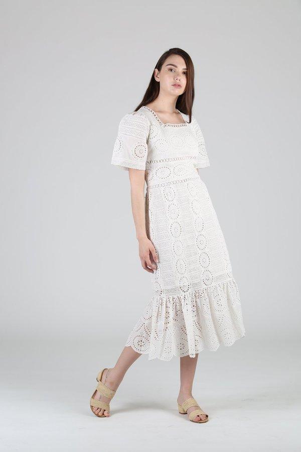 Sea NY Zinnia Midi Dress - White