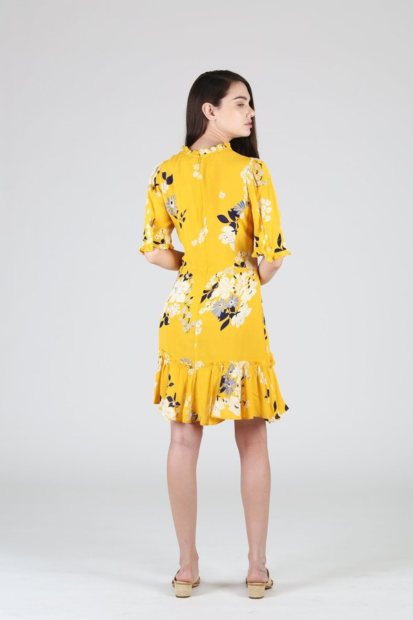 Sea NY Pia Mini Dress - Floral Yellow
