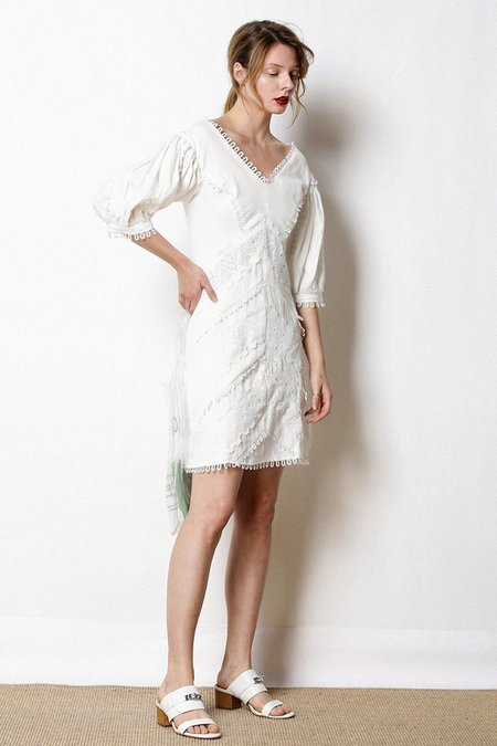 Caara Gwen Shift Dress - White