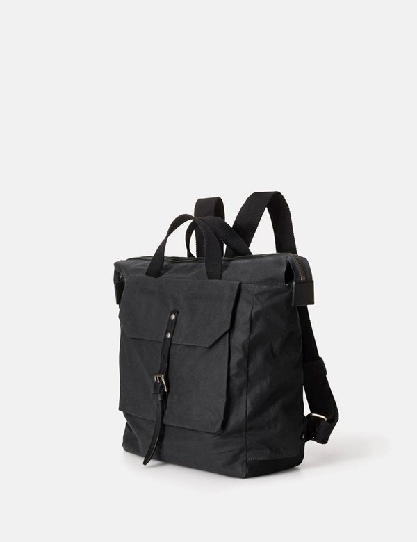 Ally Capellino Frances Waxy Backpack - Black