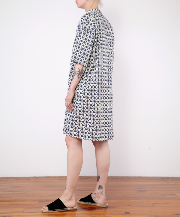 Hartford Random Dress With Print - NAVY