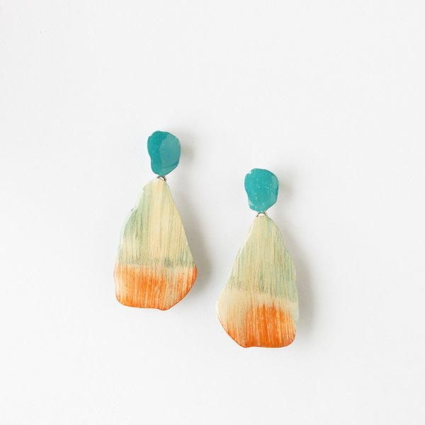 Johanne Ratté Large Contemporary Hanging Earrings