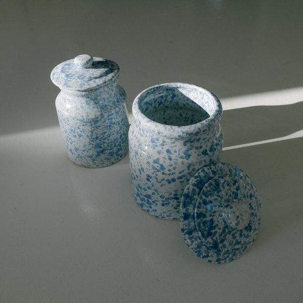 Leigh Collective Speckled Jars - White/Blue