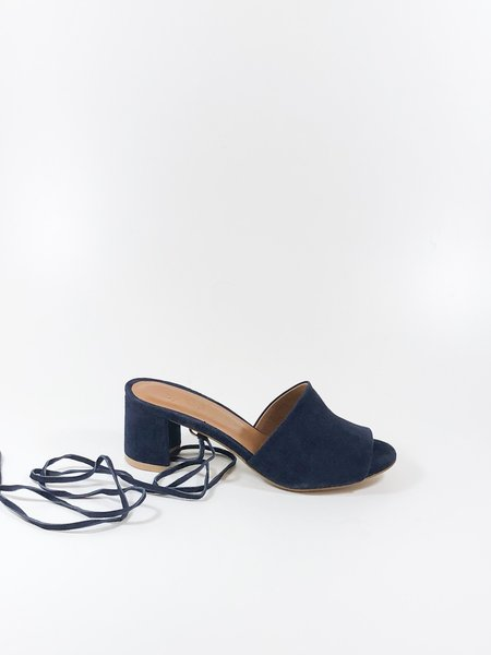 By Far Valentina Slides - Navy