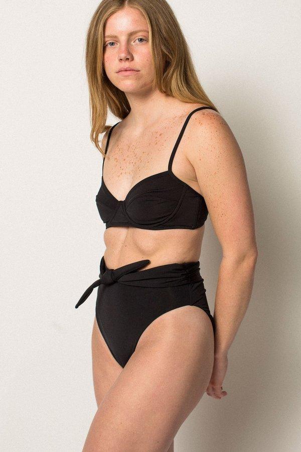 Mara Hoffman Goldie Bikini Bottom - Black
