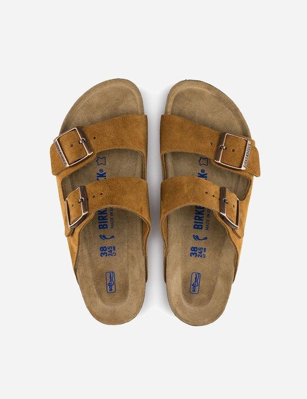 Birkenstock Arizona Suede Sandals - Mink Brown