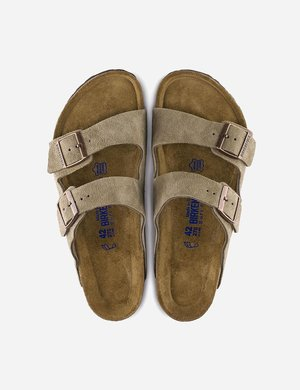 Birkenstock Arizona Regular Suede Sandals - Taupe Brown