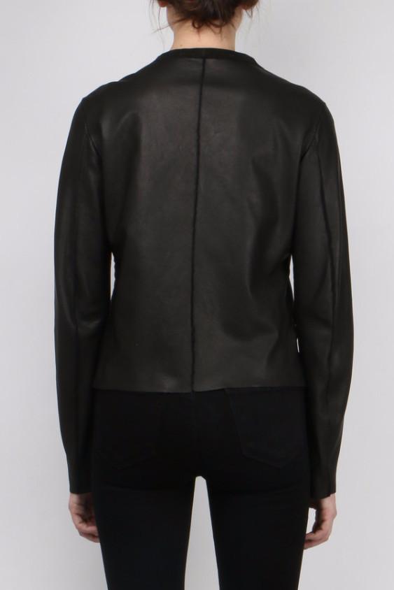 Salvatore Santoro Black Zip Up Leather Jacket