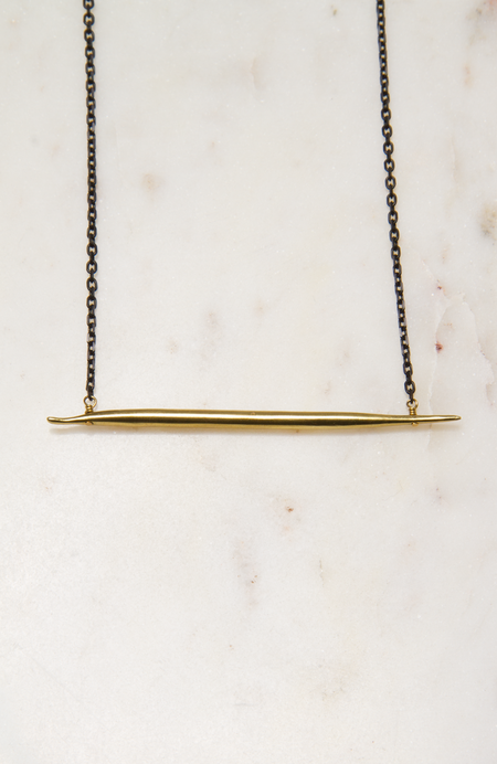 K/LLER COLLECTION Lateral Quill Necklace - Brass