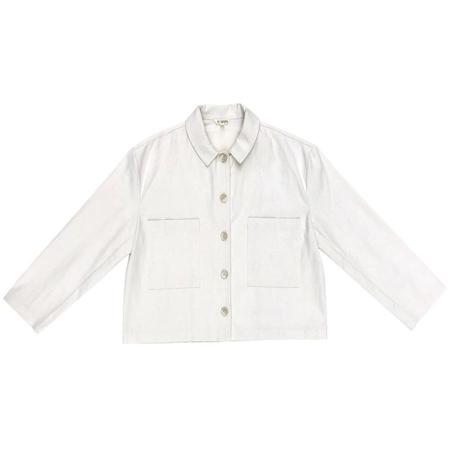 ali golden CROPPED JACKET - BONE