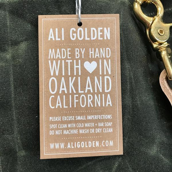 Ali Golden REVERSIBLE BAG - OLIVE/NATURAL