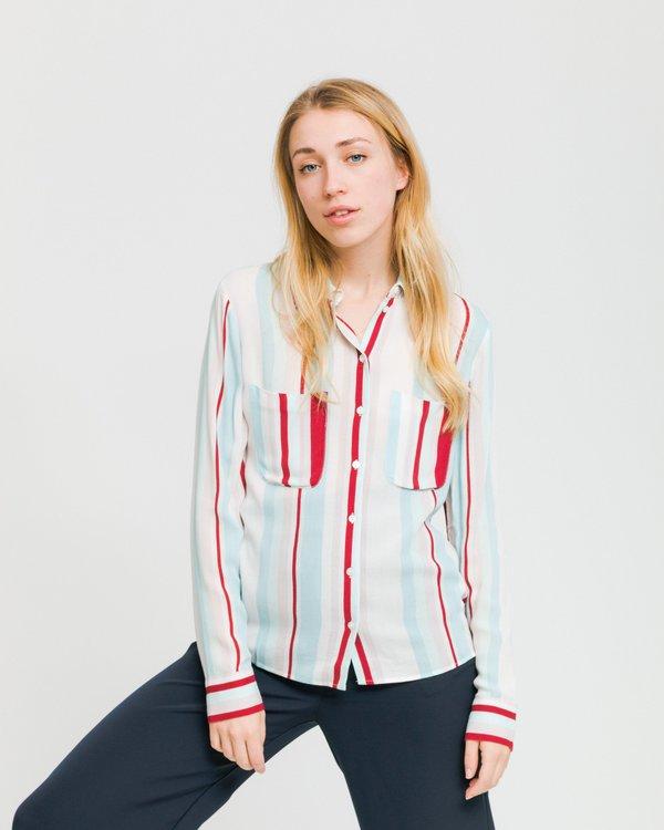 036f54694877 Samsoe & Samsoe Milly AOP 7201 Shirt - Red Line | Garmentory