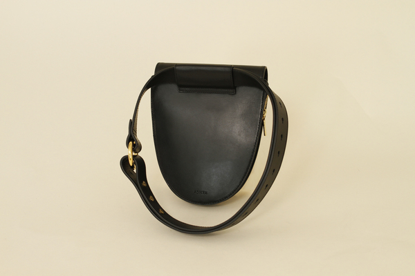 ASHYA PALMETTO BELT BAG - ONYX