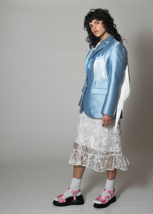 Suzanne Rae Blazer With Fringes