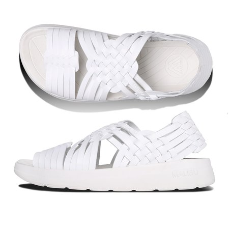 Unisex Malibu Canyon Classic Vegan Leather EVA Sandals - White/White