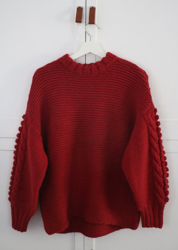 Solosix Bella Sweater - Cranberry
