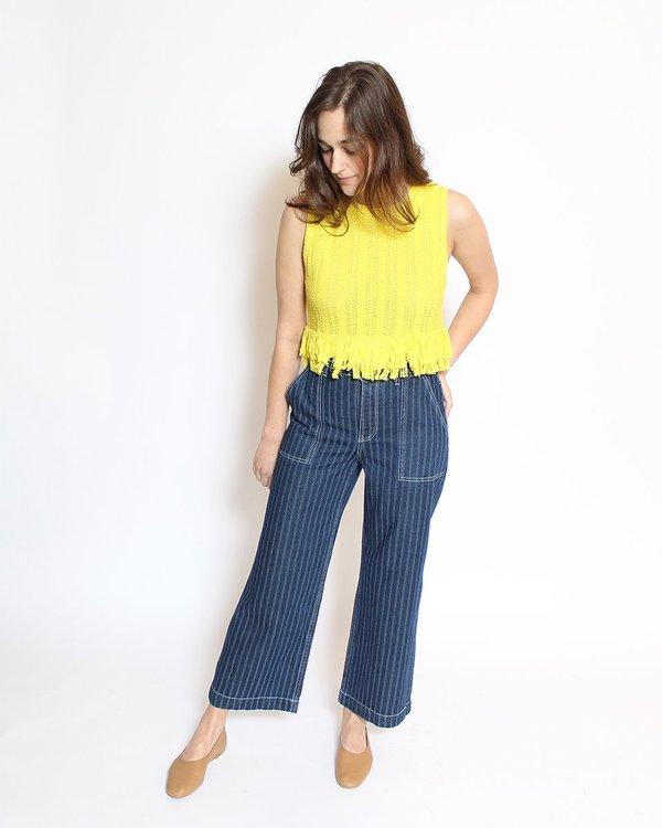 Rachel Antonoff Lewis Fringe Shell - Yellow