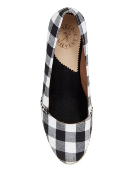 Penelope Chilvers Colina Gingham Espadrille Wedge - Black/White