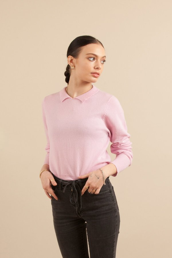 Solosix Sunday Collar Sweater - Magic Pink