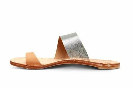 Beek Finch Sandals - Silver/Natural