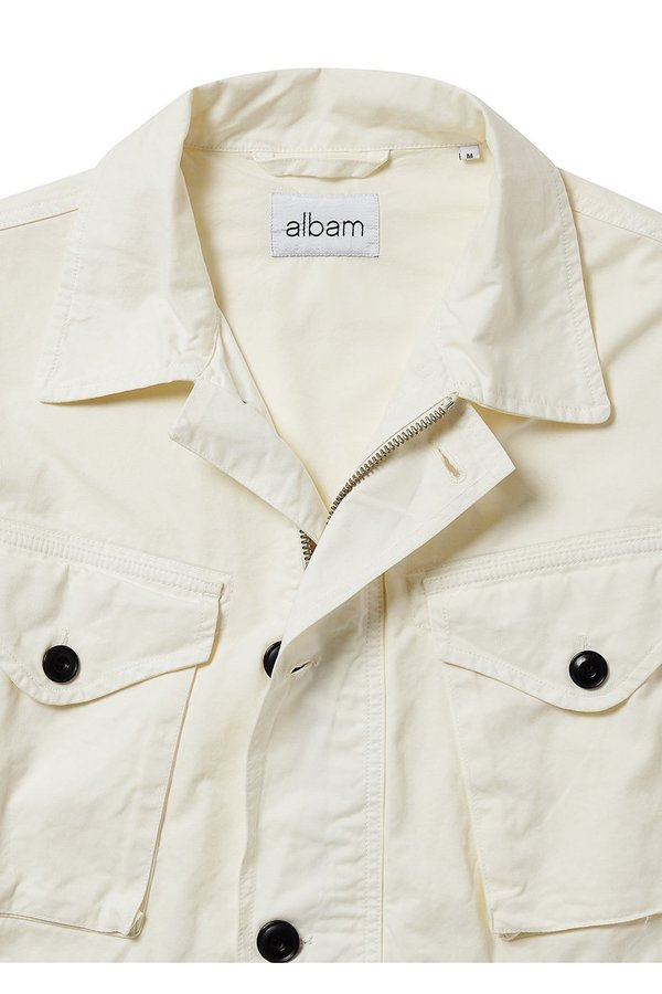 ALBAM Military Field Jacket - Ecru