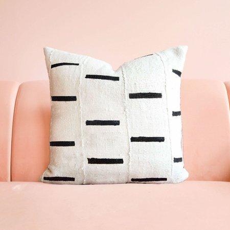 San Junipero Textile Studio Desert Wishbone Pillow Cover - White/Black Dash