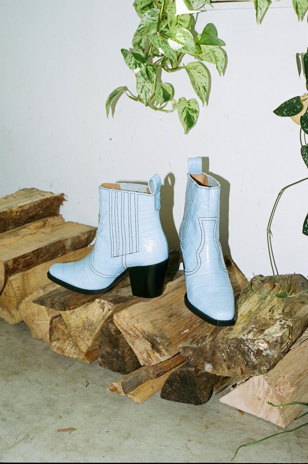 b23e10bb2e7 Ganni CALLIE BOOTS - HEATHER BLUE on Garmentory