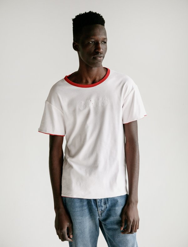 Calvin Klein 205W39NYC Jaws Reversible Crewneck T-Shirt - Red/White