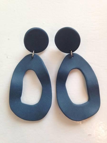 Four Eyes Ceramics CUTOUT DANGLE - NAVY MATTE