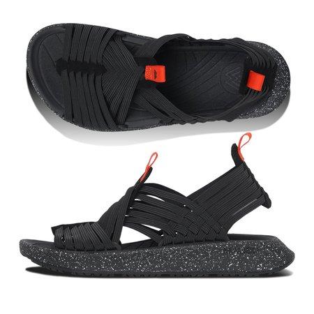 Unisex Malibu Rancho Elastic EVA Sandals - Black/Orange