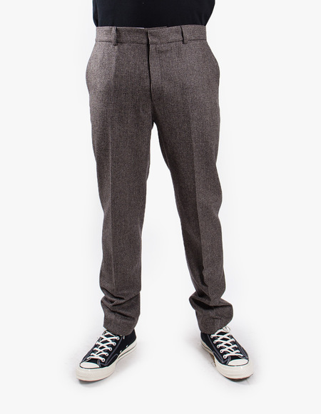 Harmony Peter Flannel trouser - Pied Poule Brown