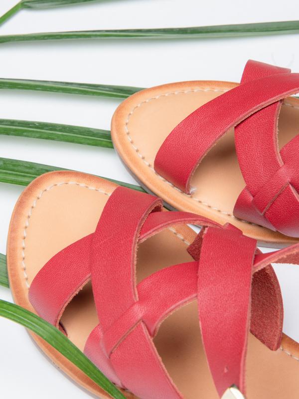 BLNC Cross Sandal - Red