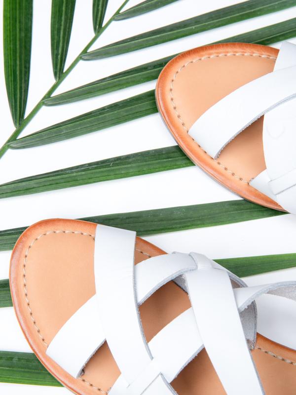BLNC Cross Sandal - White